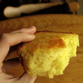 Maple Glazed, Southern Style Cornbread: a Delicious meeting of North and South